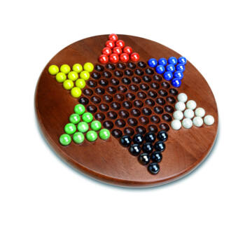 Chinese Chess game with wooden plate and marbles figures