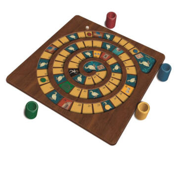 Wooden Traditional Goose Game for 4 pesrons