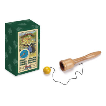 Bilboque wooden skill toy