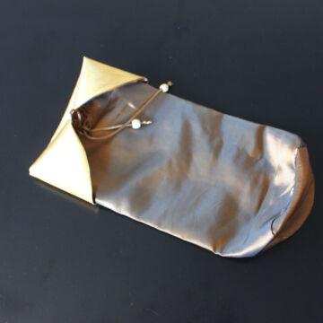 Ó-arany színű selyem zsák - ajándéktasak dekor csomagoló