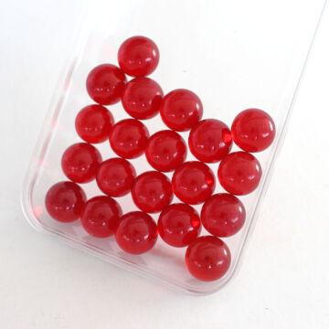 Piros kristály üveggolyó szett 14mm 20 db