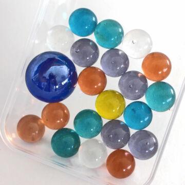 Színes kristály üveggolyó szett 14mm