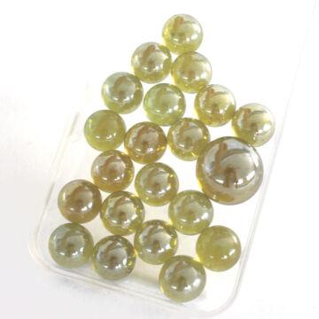 Sárga kristály üveggolyó szett 20+1 db