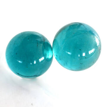 Kristály kék üveggolyó szett 45mm 2db