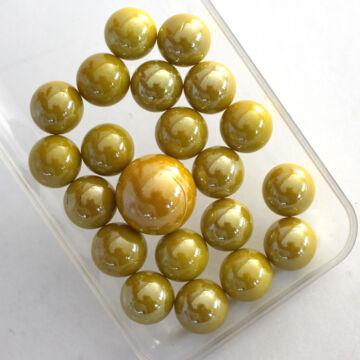 Sárga üveggolyó szett 16mm