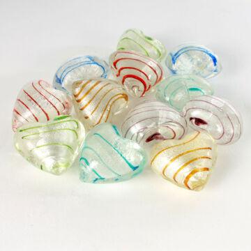 Csíkos selyemszivek üvegből