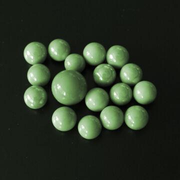 Zöld üveggolyó szett 16+1 db