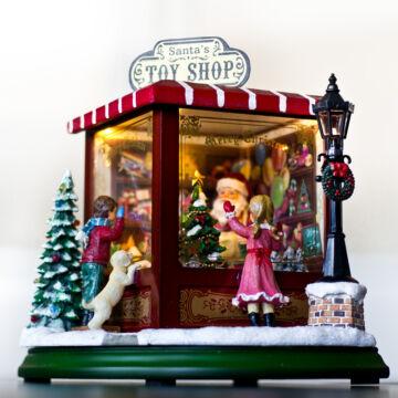 Karácsonyi játékbolt - zenélő dísztárgy