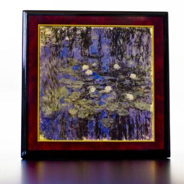 Monet: Tavirózsák  - lakkozott zenélő ékszerdoboz