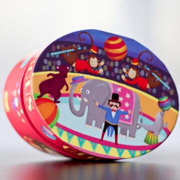 Zenélő kincses doboz, ékszerdobo  - Majom a cirkuszban