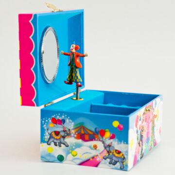 Cirkuszi sátor bohóccal - zenélő doboz, ékszerdoboz