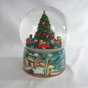 Karácsonyi vonat  zenélő hógömb
