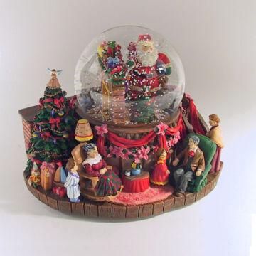 Karácsonyi életkép - légbuborékkal