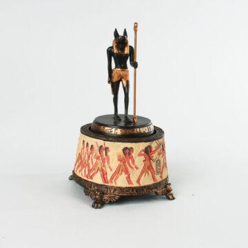 ANUBISZ - a sakálfejü isten - egyitomi mitológia - zenélő ajándéktárgy