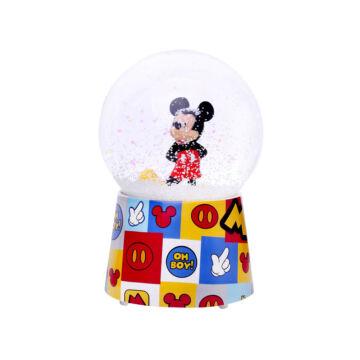 Mickey Mouse  zenélő hógömb  légzárványos