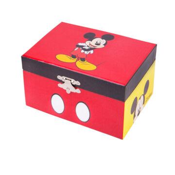 Mickey egér  zenélő ékszerdoboz, kincsesláda