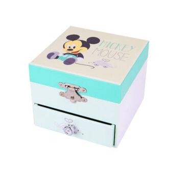 Mickey Mouse baby  Fiókos zenélő ékszerdoboz