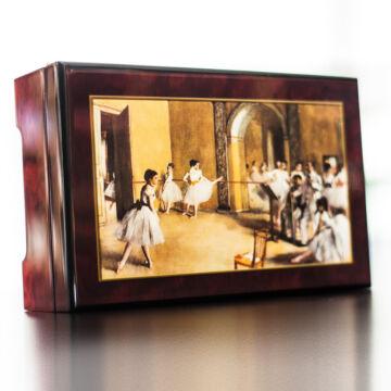 Degas: Balettpróba zenélő ékszerdoboz selyemszoknyás balerinával (Strauss: Császárkeringő)
