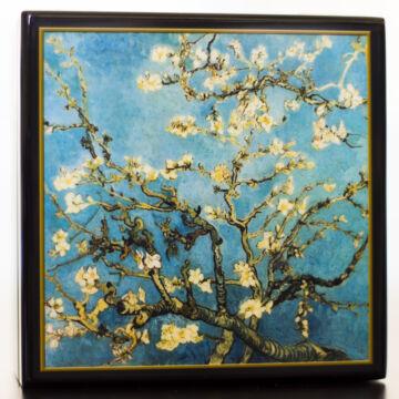 Van Gogh: mandulavirágzás  lakkozott ékszerdoboz