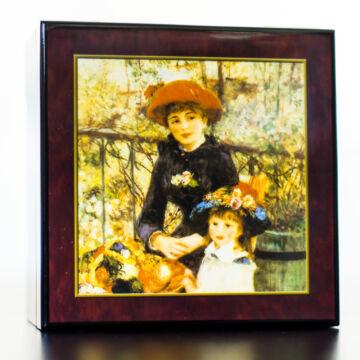 Renoir: Nővérek  lakkozott ékszerdoboz
