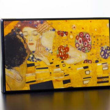 Klimt: csók  lakkozott ékszerdoboz