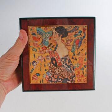 Exkluzív Ékszerdoboz  - Hölgy legyezővel - zenélő ajándéktárgy