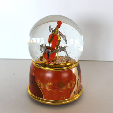 Musical snowglobe with violin