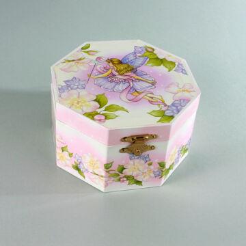 Virágok   -  zenélő hatszögletű ékszerdoboz