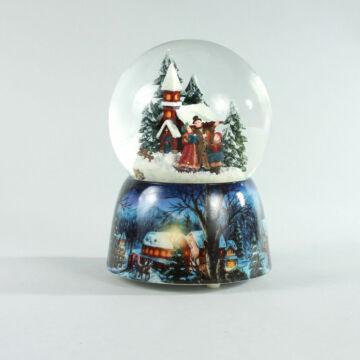 Karácsonyi éneklés  zenélő hógömb