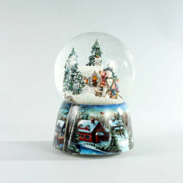 Hóemberépítés  zenélő hógömb