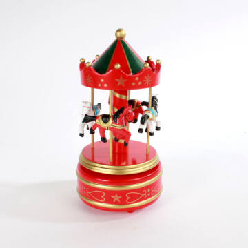 Wodden Red Marry-Go-Round 21cm