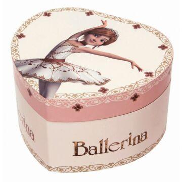 BALLERINA szív alakú zenedobozsötétben világít