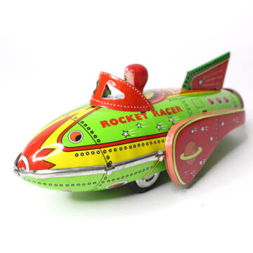 Rocket car tin toy